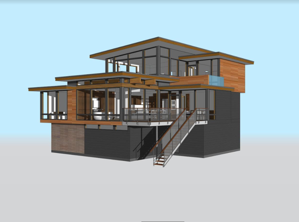 Simulated design of prefab architecture